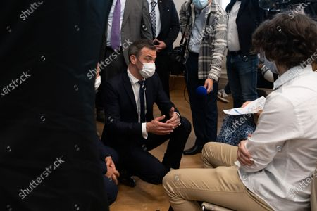 Editorial photo of Minister of Health and Secretary of State for Children visits vaccination centre, Paris, France - 15 Jun 2021
