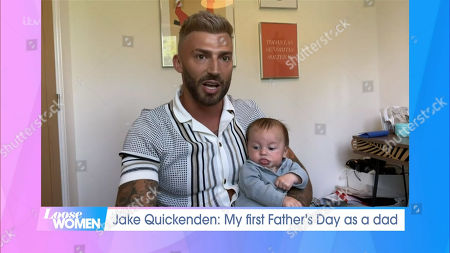 Jake Quickenden and baby