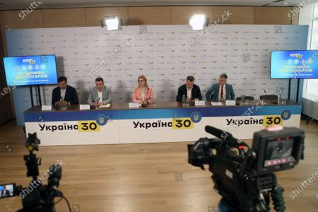 Editorial photo of Press confrence of speakers of Ukraine 30. Economy Without Oligarchs Forum in Kyiv - 15 Jun 2021