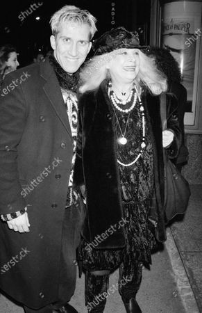 Stock Picture of UNITED STATES - DECEMBER 01:  Sylvia Miles and Mark Kostabi