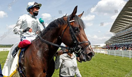 Stock Picture of PALACE PIER (Frankie Dettori) after The Queen Anne Stakes Royal Ascot