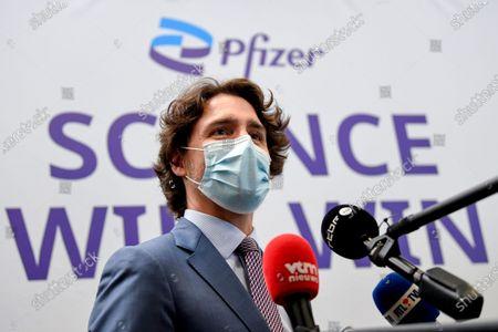 Canadian Prime Minister Justin Trudeau visit to Belgium