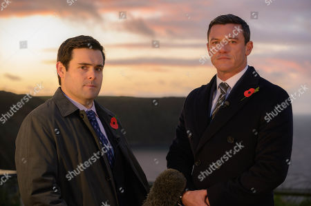 Luke Evans as Steve Wilkins and David Fynn as Jonathan Hill.