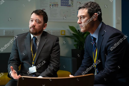 Luke Evans as Steve Wilkins and Steve Meo as DI Lynne Harries.