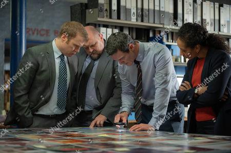 Luke Evans as Steve Wilkins, Richard Corgan as DS Glyn Johnson, Charles Dale as DS Gareth Rees and Alexandria Riley as DI Ella Richards.