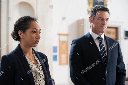 Luke Evans as Steve Wilkins and Alexandria Riley as DI Ella Richards.