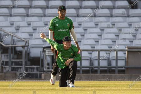 Callum Parkinson catches  David Willey during the Vitality T20 Blast North Group match between Yorkshire Vikings and Leicestershire Foxes at Emerald Headingley Stadium, Leeds