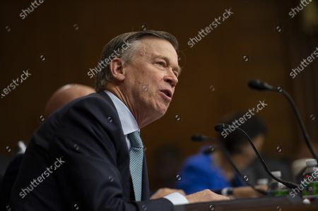 Senator John Hickenlooper, D-CO, speaks during a Senate Energy and Natural Resources hearing on the Department of Energy's proposed budget for the 2022 fiscal year in Washington, DC., on Wednesday, June 10, 2021.
