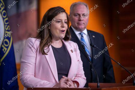Editorial picture of House Republican Conference Chair Elise Stefanik defends Trump DOJ secret subpoenas, Washington, USA - 15 Jun 2021
