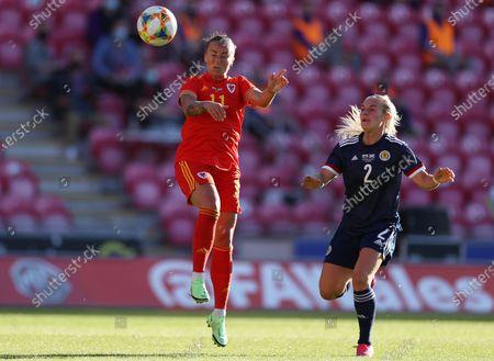 Editorial picture of Wales Women v Scotland Women - International Friendly - 15 Jun 2021