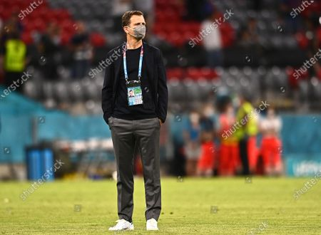 Germany's team manager Oliver Bierhoff reacts after the UEFA EURO 2020 group F preliminary round soccer match between France and Germany in Munich, Germany, 15 June 2021.