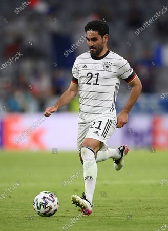 Germany's Ilkay Gundogan during the Euro 2020 soccer championship group F match between France and Germany at the Allianz Arena stadium in Munich