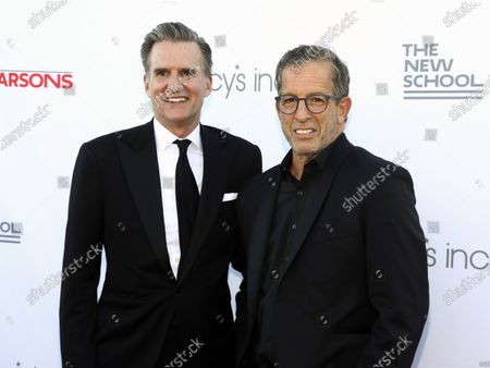 Chairman and CEO of Macy's, Inc. Jeff Gennette, left, and fashion designer Kenneth Cole, right, attend the 72nd annual Parsons Benefit presented by The New School at The Rooftop at Pier 17, in New York