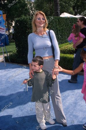 Actress Beth Broderick and son.
