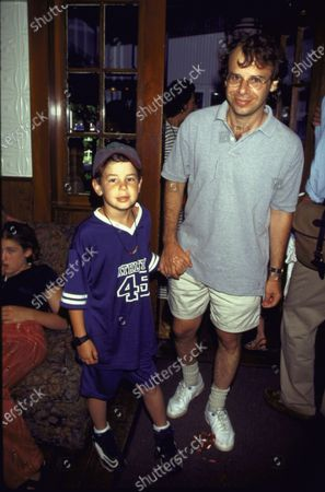 NEW YORK, UNITED STATES - 1996:  Actor Rick Moranis and son.
