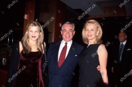 Producer Martin Bregman (C) and wife Cornelia (R) w. daughter (L).