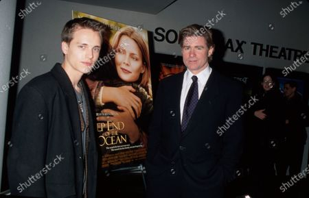 Stock Image of NEW YORK, UNITED STATES - MARCH 08:  (L-R) Jonathon Jackson and Treat Williams at The Deep End Of The Ocean at Sony Theaters.