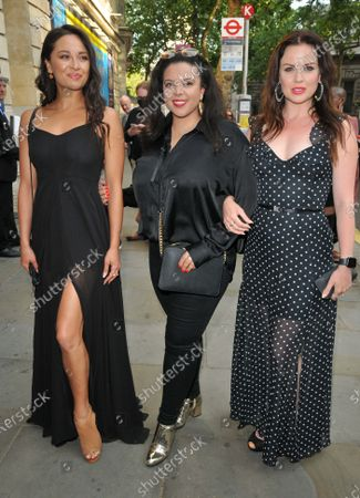 Stock Picture of Katya Jones, guest and Joanne Clifton