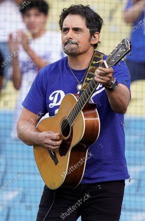 Celebrities at Los Angeles Dodgers v Philadelphia Phillies, Los Angeles