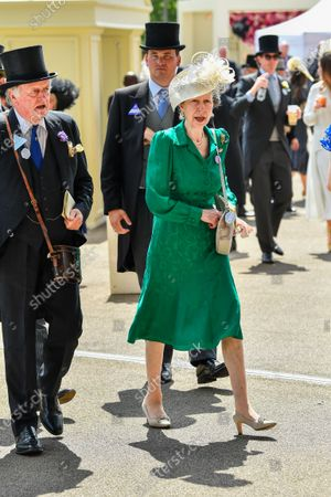 Stock Image of Brigadier Andrew Parker Bowles and Princess Anne