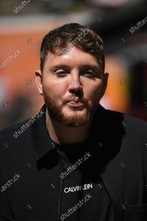 Stock Picture of James Arthur leaving Global Studios