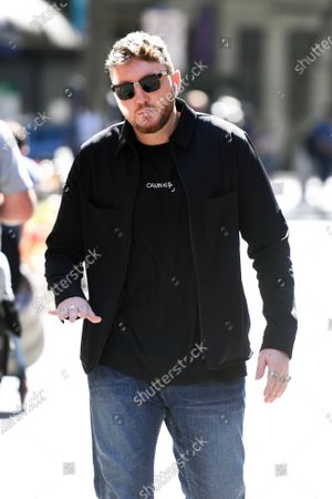 James Arthur is seen arriving at the Global Radio Studios