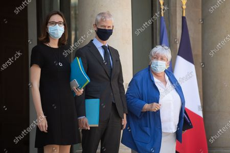 Stock Picture of Franck Riester, Jacqueline Gourault, Amelie de Montchalin leave the Elysee Palace