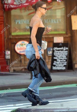 Irina Shayk seen in Soho