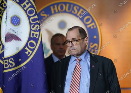 House Judiciary Committee Chair Jerrold Nadler, D-N.Y., followed by Rep. David Cicilline, D-R.I., chairman of the antitrust subcommittee, arrive to speak to reporters about antitrust bills to be introduced at the Capitol in Washington