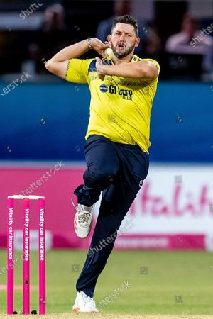 Tim Bresnan of Birmingham Bears during the Vitality T20 Blast North Group match between Leicestershire County Cricket Club and Warwickshire County Cricket Club at the Uptonsteel County Ground, Leicester