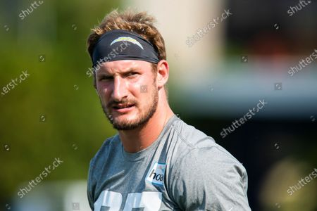 Stock Picture of Los Angeles Chargers defensive end Joey Bosa is seen during an NFL football practice, in Costa Mesa, Calif