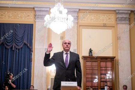 U.S. Capitol Police Inspector General Michael Bolton is sworn-in as he appears before a Senate Committee on Rules and Administration oversight hearing to examine the U.S. Capitol Police following the January 6th attack on the Capitol, in the Russell Senate Office Building in Washington, DC,.