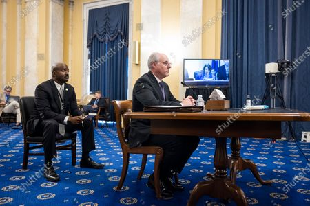 Michael Bolton, Inspector General of the US Capitol Police, testifies before a Senate Rules and Administration oversight committee hearing on the Capitol Police in the wake of the 06 January attack on the US Capitol in the Russell Senate Office Building in Washington, DC, USA, 16 June 2021.