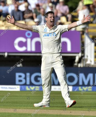 New Zealand's Matt Henry during the second day of the 2nd Test match between England and New Zealand at Edgbaston cricket ground in Birmingham, England