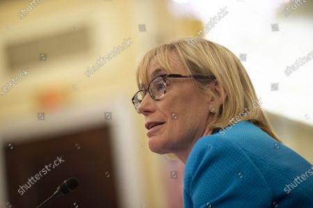 Stock Image of Sen. Maggie Hassan, D-NH, speaks during a Senate Committee on Veterans Affairs hearing on the Department of Veteran's Affairs budget for fiscal year 2022 in Washington, DC., on Wednesday, June 16, 2021.