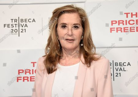 """Stock Image of Tribeca Studios executive producer Paula Weinstein attends """"The Price of Freedom"""" premiere during the 20th Tribeca Festival at Hudson Yards, in New York"""