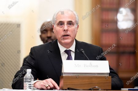 Michael Bolton, Inspector General, U.S. Capitol Police, speaks at a hearing of the Senate Rules and Administration Committee.