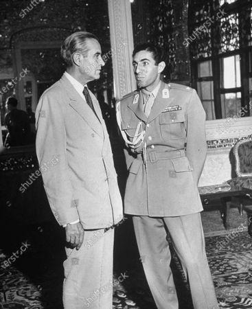 Averell Harriman talking with Prince Ali Reza.