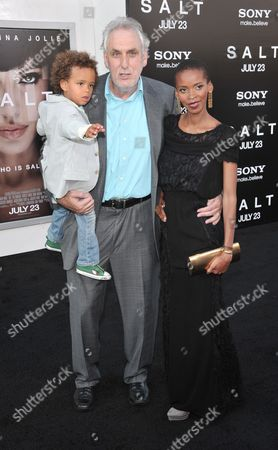 Phillip Noyce, wife Vuyo Dyasi and son Luvuyo William Noyce