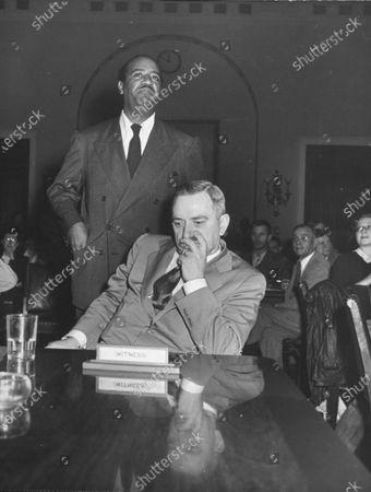 Editorial picture of Earl Browder;Benjamin J. Jr. Davis, Washington, District of Columbia, USA