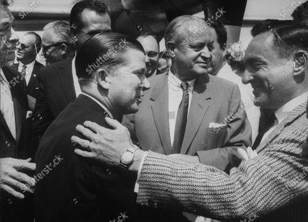 Sen. Everett M. Dirksen (L), Barry Goldwater (3L, Rear), Sen. John G. Tower (C), and Styles Bridges (2R).