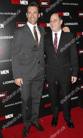Matt Weiner and Jon Hamm
