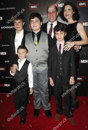 Matt Weiner and family