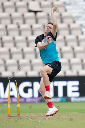 Stock Photo of Matt Henry, New Zealand, during a training session ahead of the ICC World Test Championship Final at the Hampshire Bowl on 17th June 2021