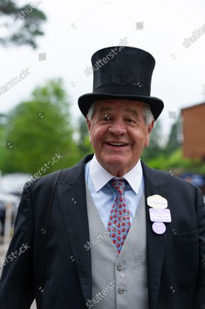 Trainer Sir Michael Stoute. Racegoers arriving on Day Three of Royal Ascot for Ladies Day.