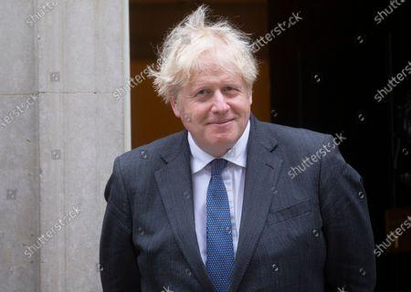 Editorial image of Boris Johnson meeting with Crown Prince of Bahrain., Westminster, London, UK - 17 Jun 2021