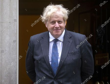 Editorial picture of Boris Johnson meeting with Crown Prince of Bahrain., Westminster, London, UK - 17 Jun 2021