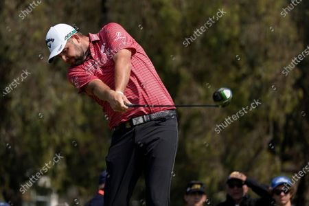 Marc Leishman, of Australia, plays his shot from the 12th tee during the first round of the U.S. Open Golf Championship, at Torrey Pines Golf Course in San Diego