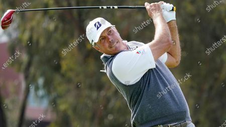 Matt Kuchar plays his shot from the 12th tee during the first round of the U.S. Open Golf Championship, at Torrey Pines Golf Course in San Diego
