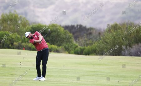 Marc Leishman of Australia hits from the fairway on the seventeenth hole during the first round of the 2021 US Open golf tournament on the South Course of the Torrey Pines Golf Course in San Diego, California, USA, 17 June 2021.